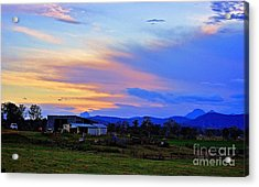 Sunset Over The Great Divide Acrylic Print by Blair Stuart