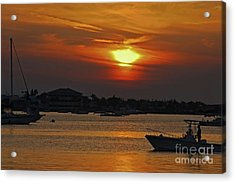 Acrylic Print featuring the photograph 1- Sunset Over The Intracoastal by Joseph Keane