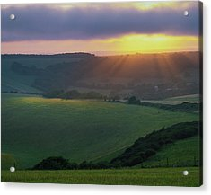 Sunset Over The South Downs Acrylic Print