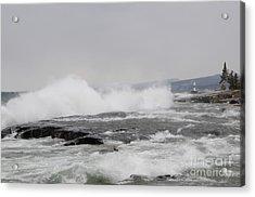 Superior Shores Acrylic Print by Sandra Updyke