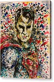 Superman Acrylic Print by Tal Dvir