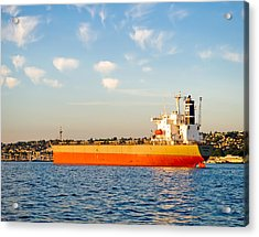 Supertanker Acrylic Print by Tom Dowd