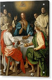 Supper At Emmaus Acrylic Print by Jacopo Pontormo