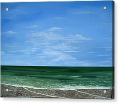Acrylic Print featuring the painting Surf Lace by Ken Ahlering