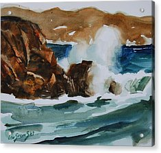 Acrylic Print featuring the painting Surf Study by Len Stomski