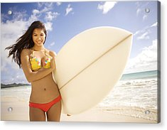 Surfer Girl Acrylic Print by Sri Maiava Rusden - Printscapes