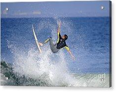 Surfer Acrylic Print by Marc Bittan
