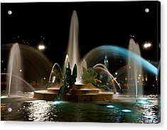 Swann Memorial Fountain Acrylic Print by Louis Dallara