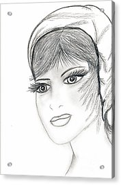 Sweet Flapper Acrylic Print by Sonya Chalmers