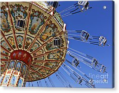 Swing Ride At The Fair Acrylic Print by Jeremy Woodhouse