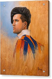 Acrylic Print featuring the painting Swiss Guard by Joe Winkler