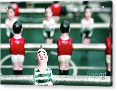 Table Soccer Acrylic Print by Gaspar Avila