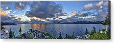 Tahoe Sunset Panorama Acrylic Print