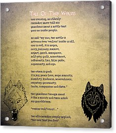 Tale Of Two Wolves - Art Of Stories Acrylic Print