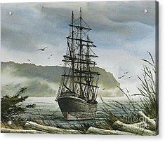 Acrylic Print featuring the painting Tall Ship Cove by James Williamson