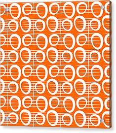Tangerine Loop Acrylic Print