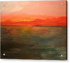 Tangerine Sky Acrylic Print by Julie Lueders