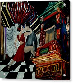 Tango For My Father Acrylic Print by Andrea Vazquez-Davidson