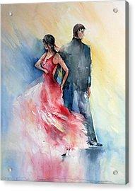 Tango Acrylic Print by Natalia Eremeyeva Duarte
