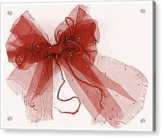 Tattered Red Acrylic Print by Dolly Mohr