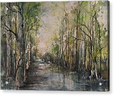 Bayou Liberty Acrylic Print by Robin Miller-Bookhout