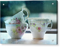 Tea For Three Acrylic Print by Bonnie Bruno