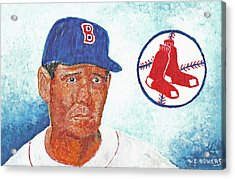 Ted Williams Acrylic Print by William Bowers