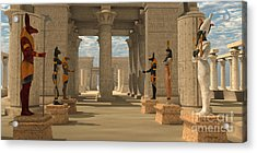 Temple Of Ancient Pharaohs Acrylic Print by Corey Ford