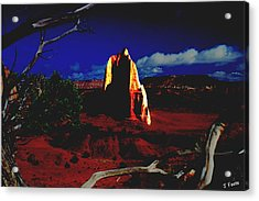 Temple Of The Moon 2 Acrylic Print by John Foote