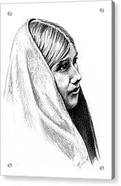 Tewa Girl Acrylic Print