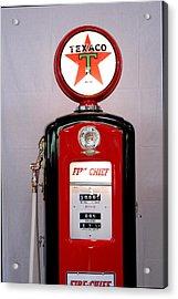 Texaco Gas Pump Acrylic Print by David Campione
