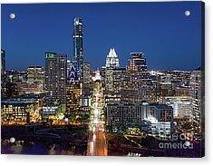 Texas Capital Skyline Acrylic Print