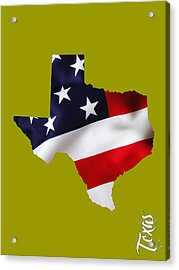 Texas State Map Collection Acrylic Print