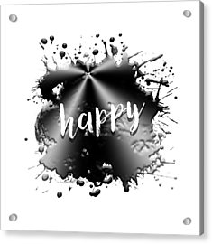 Text Art Happy Acrylic Print