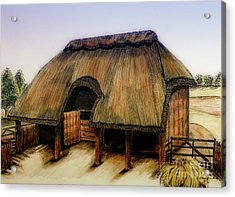 Thatched Barn Of Old Acrylic Print