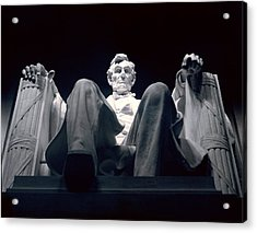 The Abraham Lincoln Statue Acrylic Print by Rex A. Stucky