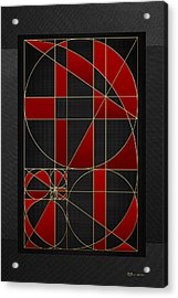 The Alchemy - Divine Proportions - Red On Black Acrylic Print