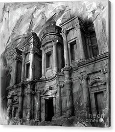 The Ancient Treasury Petra Acrylic Print