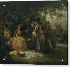 The Anglers' Repast Acrylic Print by George Morland