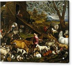 The Animals Entering Noah's Ark Acrylic Print by Jacopo Bassano