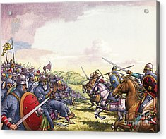 The Battle Of Hastings Acrylic Print by Pat Nicolle