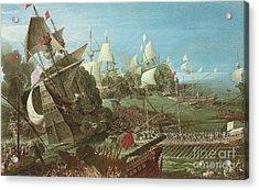 The Battle Of Lepanto Acrylic Print by Andries van Eertvelt