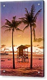 The Beach Acrylic Print by Debra and Dave Vanderlaan