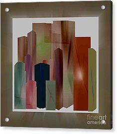 Acrylic Print featuring the digital art The Block by John Krakora