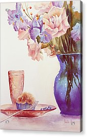 The Blue Vase Acrylic Print by Bobbi Price