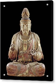 The Bodhisattva Guanyin Acrylic Print by Chinese School