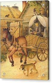 The Bookman Acrylic Print by Kestutis Kasparavicius