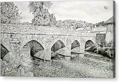The Bridge Over The Barle Acrylic Print