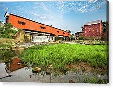 The Bridgeton Mill And Covered Bridge - Indiana Acrylic Print