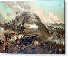 The Capture Of Fort Fisher Acrylic Print